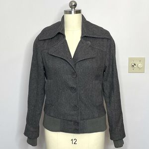 Urban Outfitters Gray Wool Pea Coat
